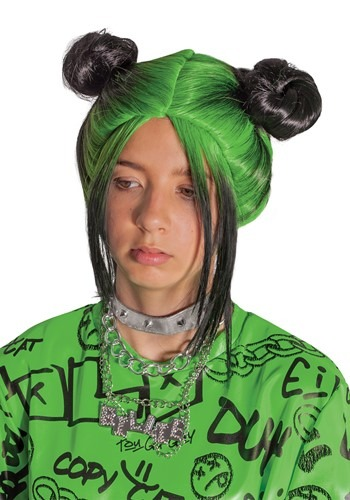 Click Here to buy Green Double Bun Wig from HalloweenCostumes, CDN Funds & Shipping