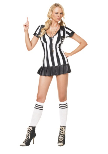 Click Here to buy Sexy Referee Costume from HalloweenCostumes, CDN Funds & Shipping