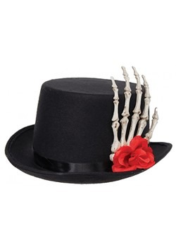 Adult Skeleton Hand Top Hat