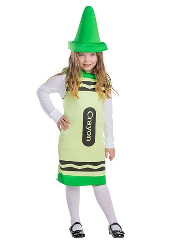 Green Crayon Costume for Toddlers
