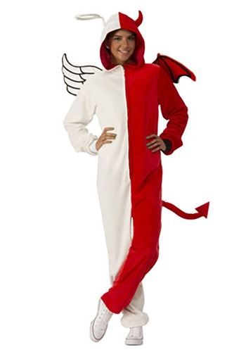 Adult Angel / Devil Jumpsuit Costume