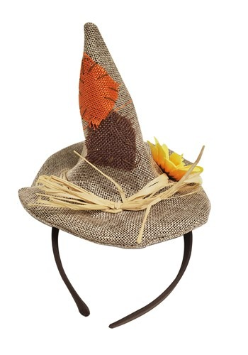 Mini Scarecrow Burlap Hat