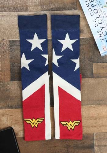 Suit Up Over The Knee Wonder Woman Socks