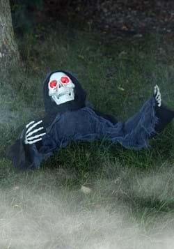 Animated Half Body Skeleton Decoration
