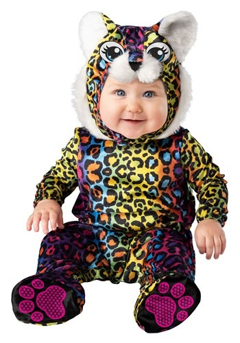 Click Here to buy Neon Baby Leopard Cub Costume from HalloweenCostumes, CDN Funds & Shipping