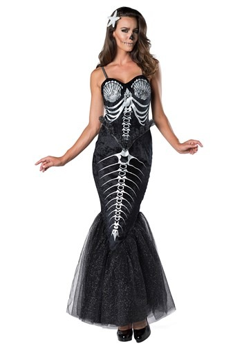 Click Here to buy Skeleton Mermaid Womens Costume from HalloweenCostumes, CDN Funds & Shipping
