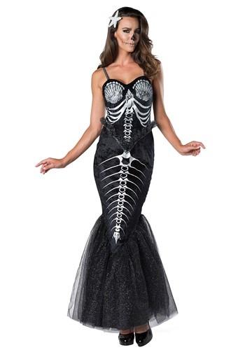 Skeleton Mermaid Womens Costume