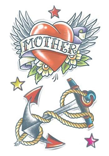 Temporary 1950 Anchor Heart Tattoo