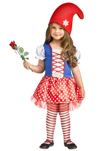Click Here to buy Lil Miss Gnome Toddler Costume from HalloweenCostumes, CDN Funds & Shipping