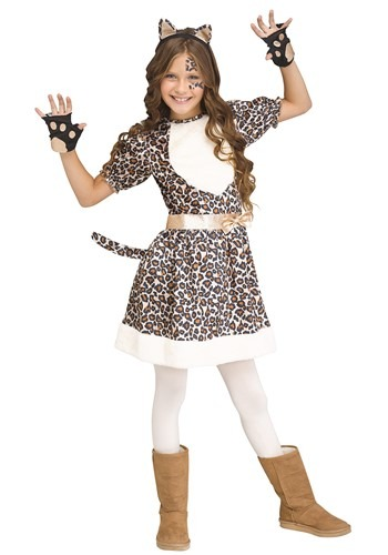Click Here to buy Rose Gold Girls Leopard Costume from HalloweenCostumes, CDN Funds & Shipping