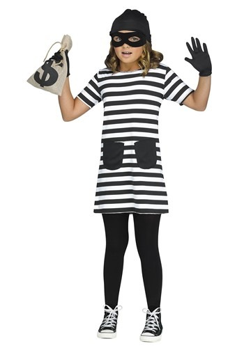Girls Burglar Costume