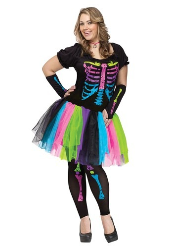 Click Here to buy Funky Punk Bones Womens Plus Size from HalloweenCostumes, CDN Funds & Shipping