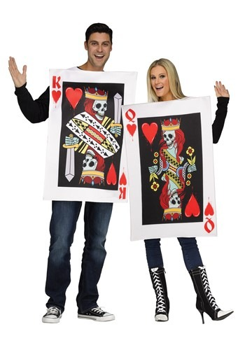 Click Here to buy Adults King & Queen of Hearts Costume from HalloweenCostumes, CDN Funds & Shipping