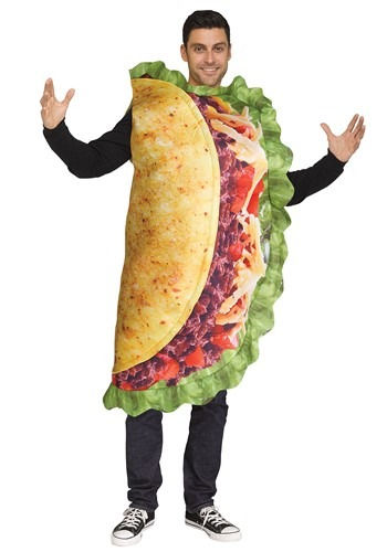 Click Here to buy Adult Realistic Taco Costume from HalloweenCostumes, CDN Funds & Shipping
