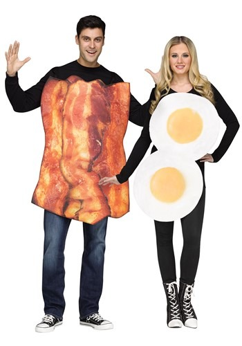 Click Here to buy Adult Bacon & Eggs Costume from HalloweenCostumes, CDN Funds & Shipping