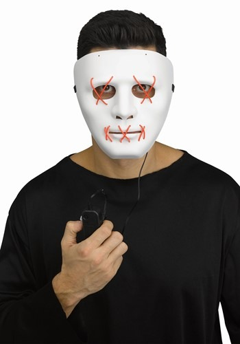 Click Here to buy Adult Red Light Up Stitch Mask from HalloweenCostumes, CDN Funds & Shipping