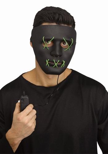 Adult Green Light Up Stitch Mask