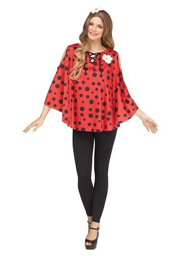 Womens Ladybug Poncho