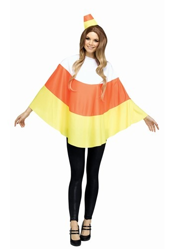 Click Here to buy Candy Corn Womens Poncho from HalloweenCostumes, CDN Funds & Shipping