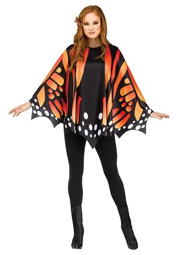 Monarch Butterfly Womens Poncho