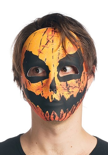 Click Here to buy Sublimated Pumpkin Mask Accessory from HalloweenCostumes, CDN Funds & Shipping