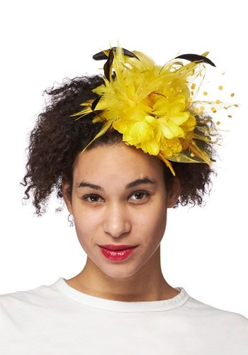 Yellow Trim Fascinator Accessory