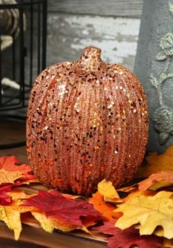 6in Orange Glitter Pumpkin