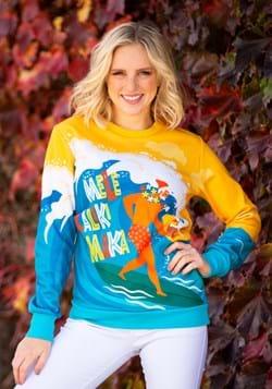 Adult Mele Kalikimaka Surfing Santa Ugly Christmas Sweater