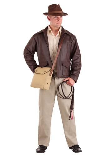 Mens Indiana Jones Plus Size Premium Costume