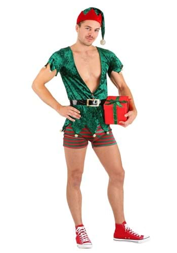 Click Here to buy Sexy Mens Christmas Elf Costume from HalloweenCostumes, CDN Funds & Shipping