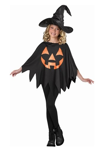 Child Jack OLantern Poncho