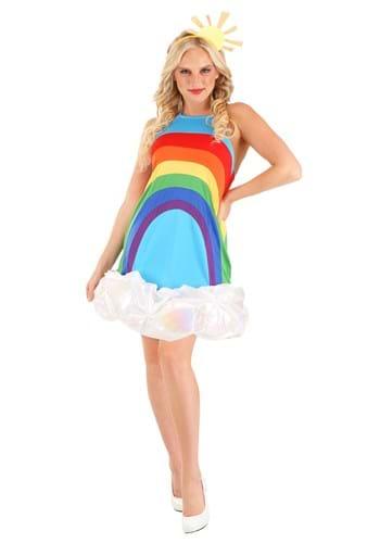 Rainbow Womens Dress Costume