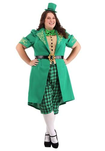 Womens Plus Size Charming Leprechaun Costume