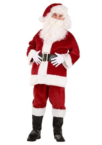 Deluxe Red Santa Claus Adult Size Costume