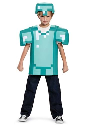 Click Here to buy Kids Minecraft Classic Armor Costume from HalloweenCostumes, CDN Funds & Shipping