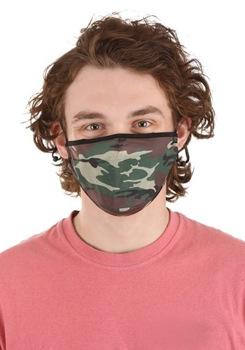 Camo Protective Fabric Face Covering Mask
