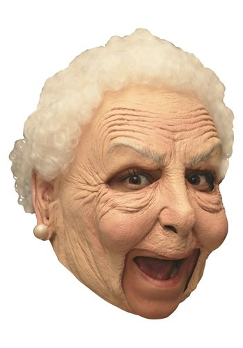 Deluxe Old Woman Mask for Adults
