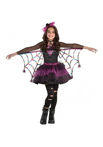 Click Here to buy Girls Miss Wicked Web Costume from HalloweenCostumes, CDN Funds & Shipping