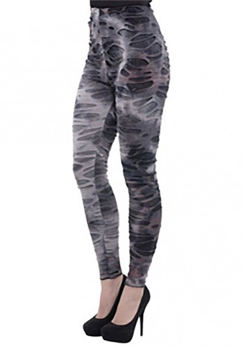 Click Here to buy Womens Footless Zombie Tights from HalloweenCostumes, CDN Funds & Shipping