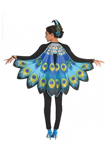 Printed Peacock Wing Accessory