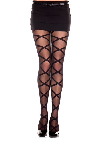 Womens Criss Cross Leg Wrap Tights