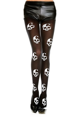 Click Here to buy Skull Print Womens Tights from HalloweenCostumes, CDN Funds & Shipping