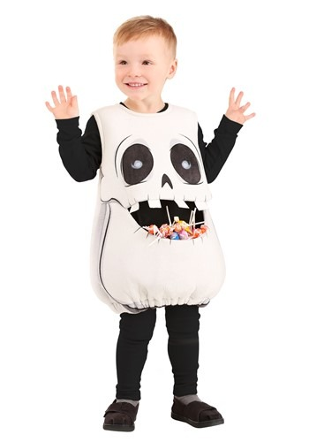 Click Here to buy Feed Me Skeleton Kids Costume from HalloweenCostumes, CDN Funds & Shipping