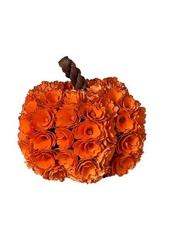 """7.5""""H Wood Rose Harvest Pumpkin"""