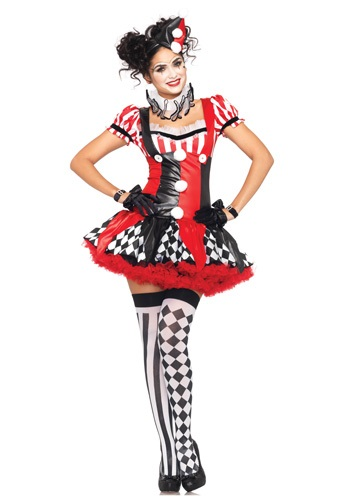 Click Here to buy Naughty Harlequin Clown Costume from HalloweenCostumes, CDN Funds & Shipping