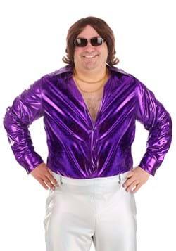 Men's Plus Size Shattered Glass Disco Shirt