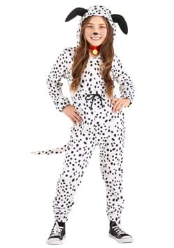Girls Cozy Dalmatian Jumpsuit Costume