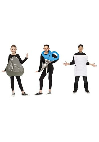 Kids Paper, Rock, Scissors Costume