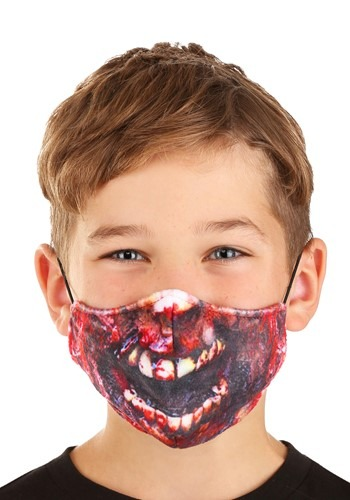 Zombie Sublimated Face Mask for Kids