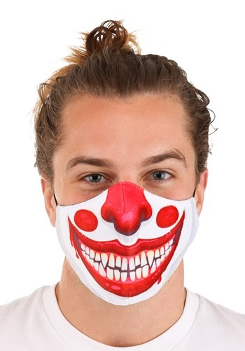 Click Here to buy Clown Sublimated Face Mask for Adults from HalloweenCostumes, CDN Funds & Shipping
